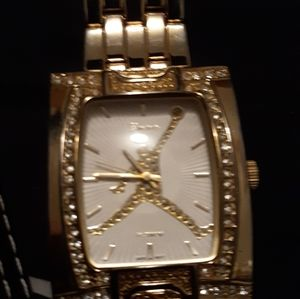Gold jumpman watch